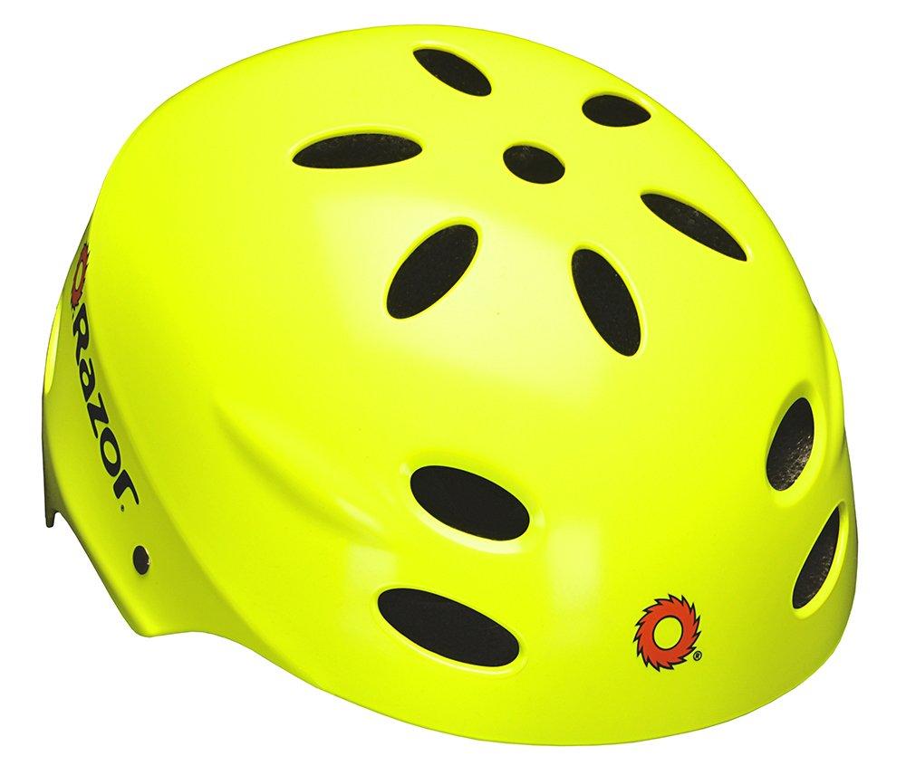 Razor V-17 Youth Multi-Sport Helmet, Neon Yellow