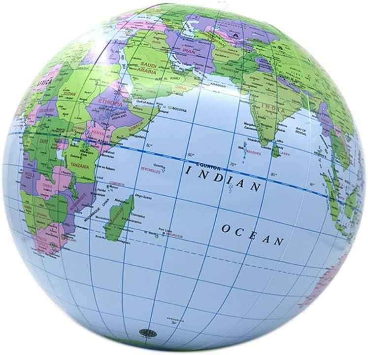 VVV 30cm Inflable Mapa del Mundo Globo Pelota de Playa Educación ...