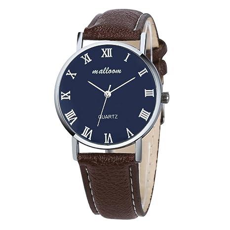 Xinantime Relojes Hombre,Xinan Imitación de Cuero Lujo del Reloj Análogo Relojes (Marrón)