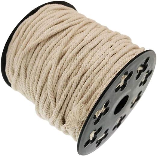 IPOTCH 1 Rollo Cordón de Algodón Puro Cuerda DIY para Manualidades ...