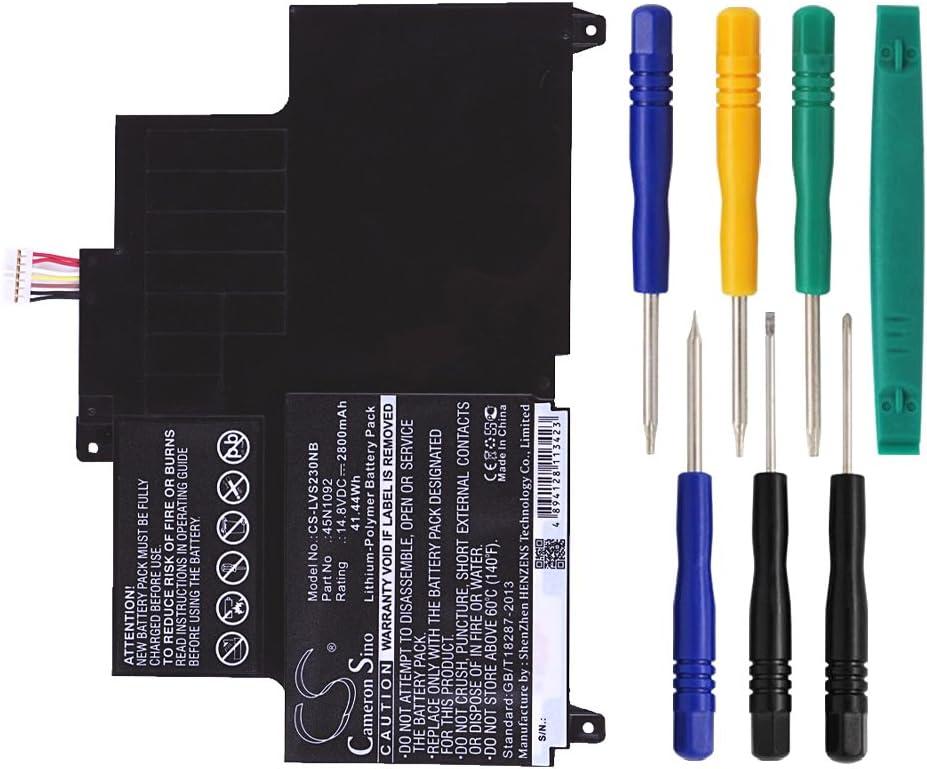 Cameron Sino 2800mAh Battery for Lenovo ThinkPad Edge S230u, ThinkPad S230u, Thinkpad Twist S230u with 7/pcs Toolskits