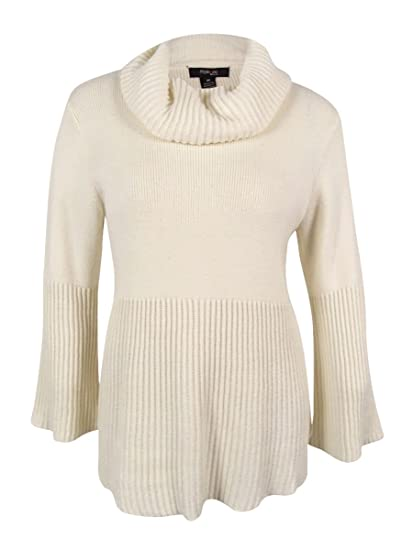 4c6a1a2a356 Image Unavailable. Image not available for. Color  Style   Co. Plus Size  Cowl-Neck Bell-Sleeve Sweater
