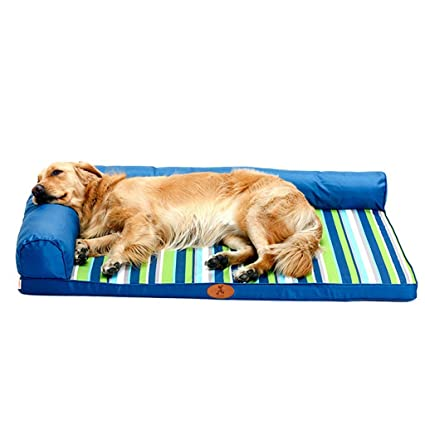 Amazon.com: QZ Extra Large Dog Bed/Couch, Blue Waterproof ...