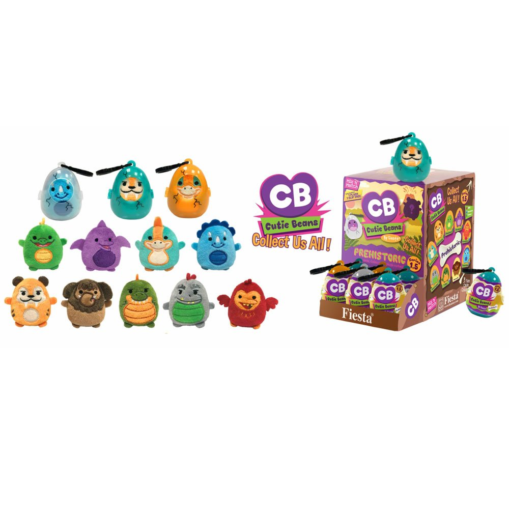Fiesta Toys Mystery Mini Cutie Beans Aqua Sea Creature Plush Clip On Toys