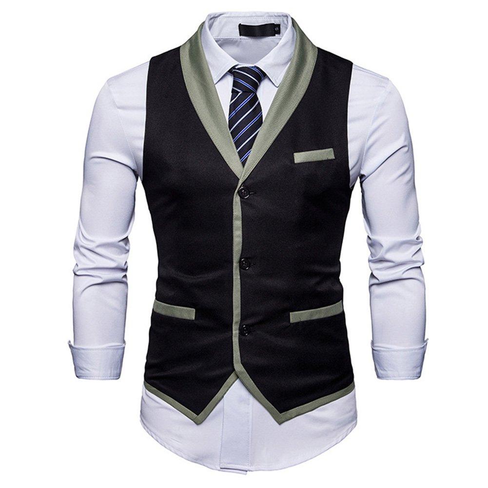 C2S Mens Multicolor Shawl Lapel 3 Buttons Casual Wedding Suit Waistcoat