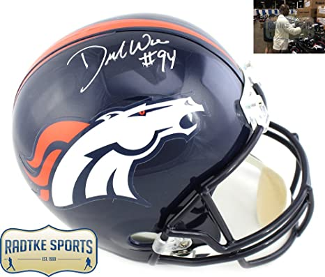 773a0b3e4f8 Amazon.com  DeMarcus Ware Autographed Signed Denver Broncos Full Size NFL  Helmet  Sports Collectibles