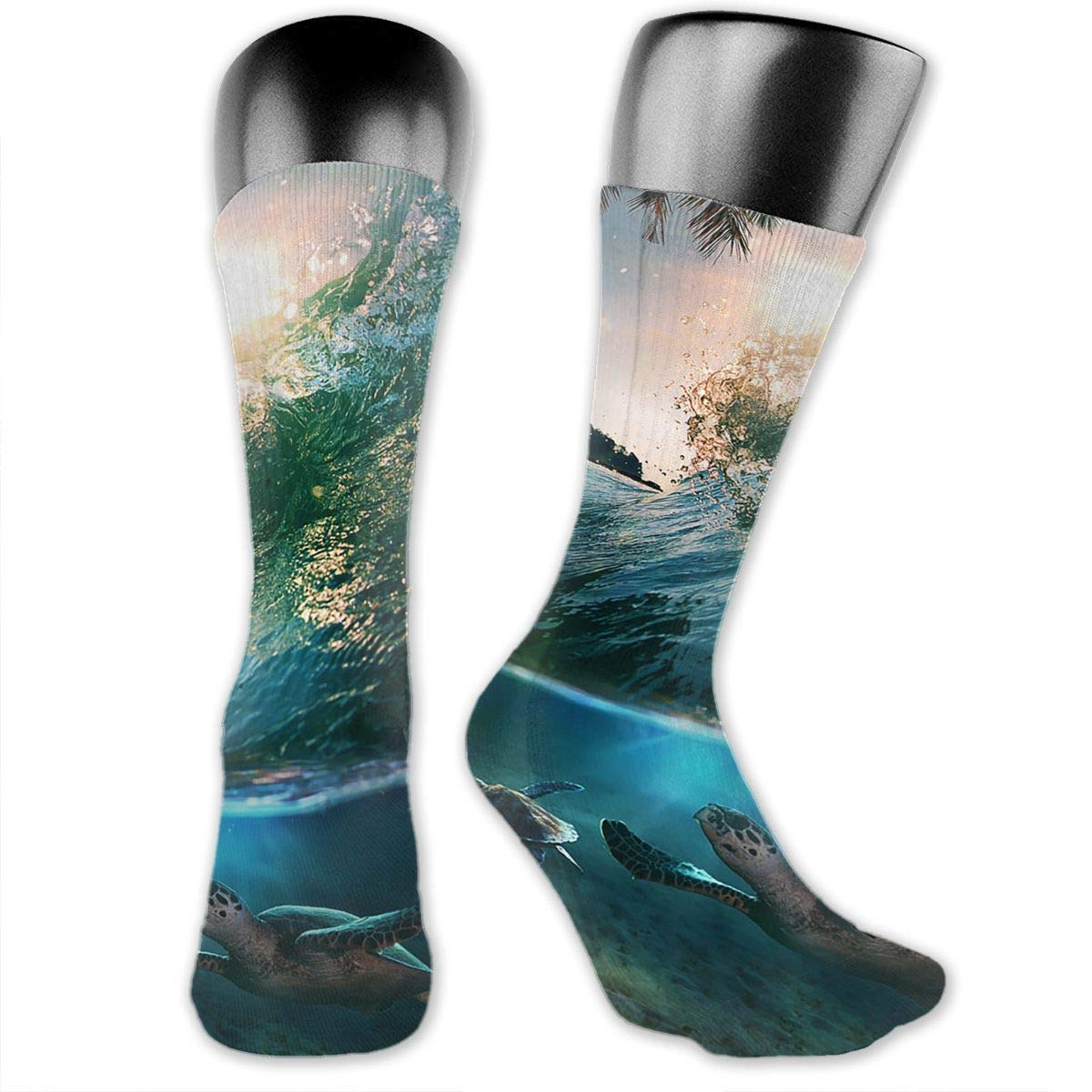 Sea Turtles Under The Sea Women Dress Socks Fun Crew Socks 15.7