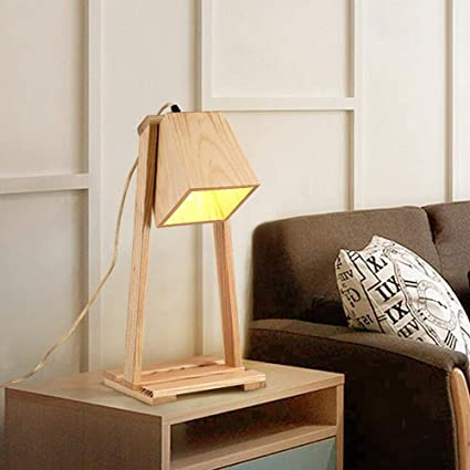 GAOLI Lámpara de Mesa de Madera lámpara de sobremesa de ...
