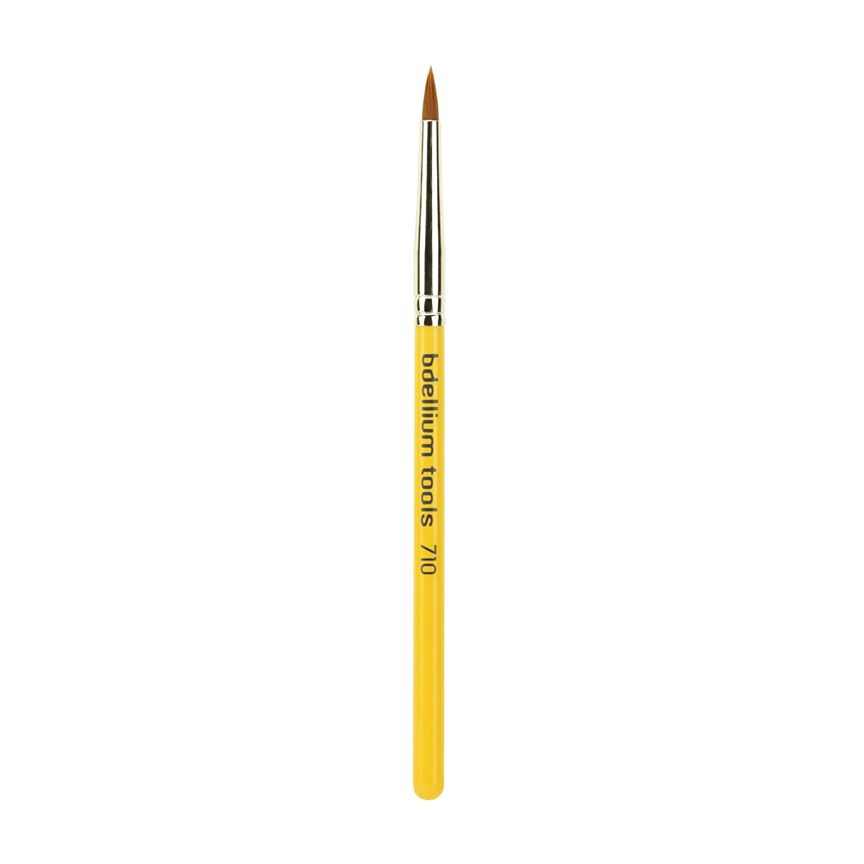 Bdellium Tools Professional Antibacterial Makeup Brush Travel Line, Eye Liner Applicator 710, 1 Count BD-TRAVEL-710