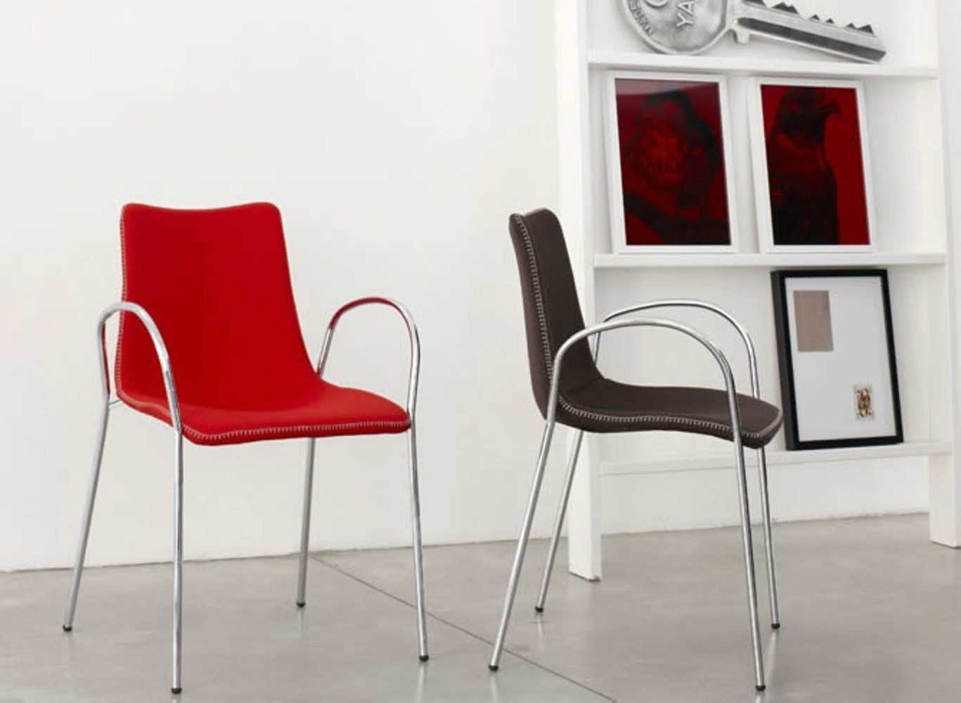 Parada One Design Zebra Pop Upholstered Dining Chair with Armrests, Polycarbonate Core and Chrome Legs, Brown Wool,Pack… - Main body: upholstered polycarbonate core, Frame: 16-millimeter chrome-plated tubular steel- 4-legs, with armrest Wool upholstered Suitable for indoor use only - kitchen-dining-room-furniture, kitchen-dining-room, kitchen-dining-room-chairs - 61iM%2By3l0 L -