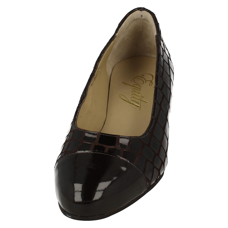Damen EQUITY breit breit breit Pumps – Camilla Braun Cobbled Suede 9284ba