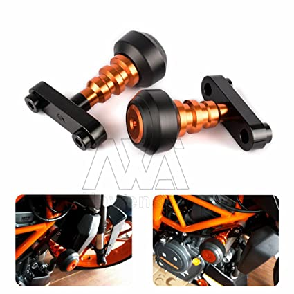 Amazon.com: Left and Right Motorcycle Frame Slider Anti Crash ...