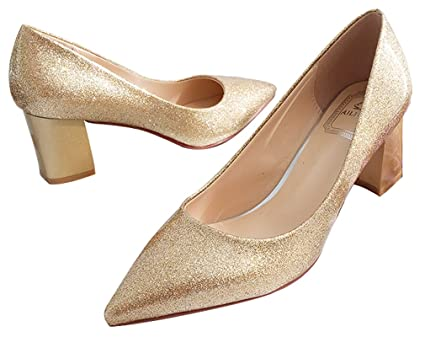 e65ba8fe7a4d7 Image Unavailable. Image not available for. Color  Wedding Shoes Bridal  Shoes Bling Princess Shoes Golden
