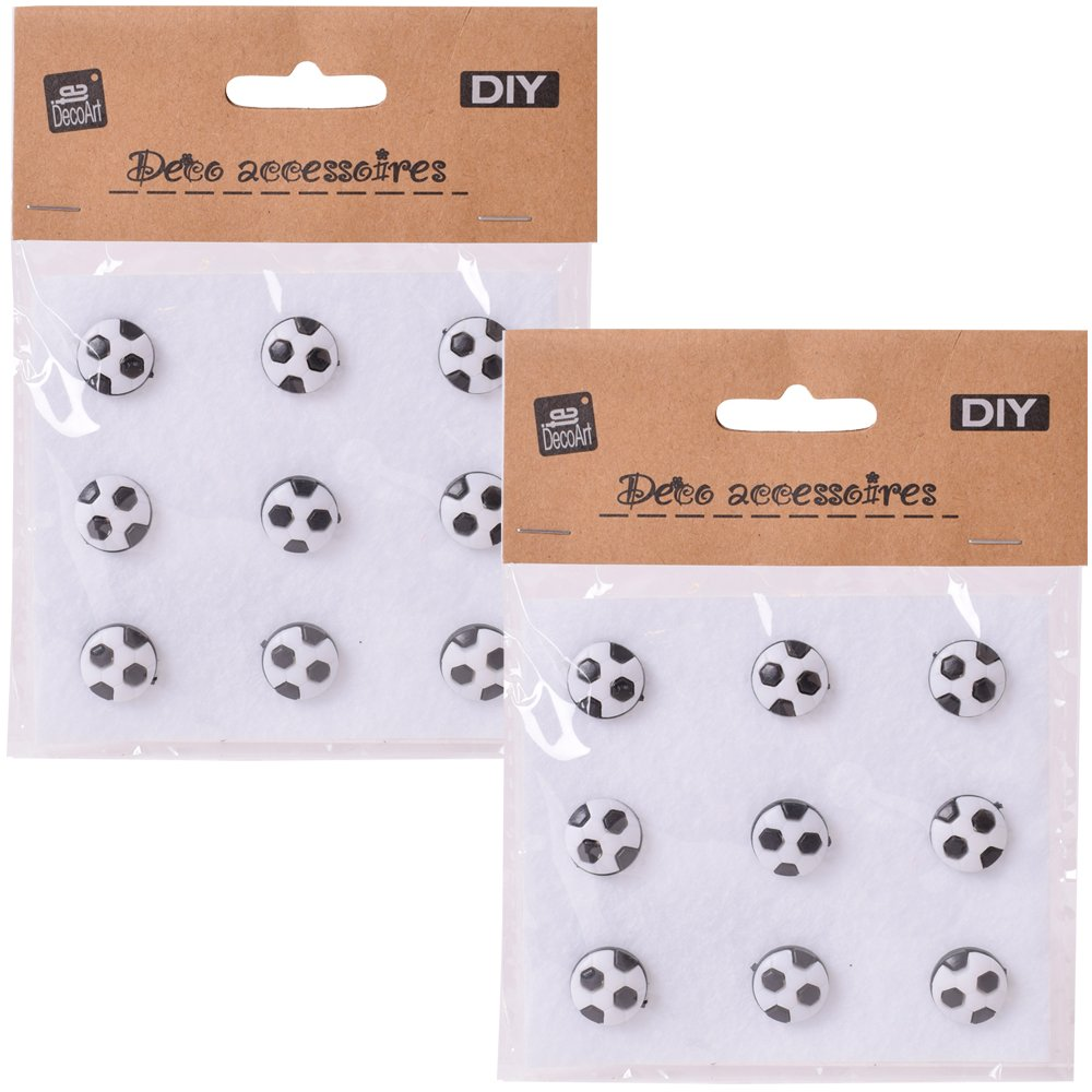 DIY Decorative Shank Buttons Football Ladybird Flower Smiley 14mm plastic Colourful Buttons flower TE-Importe