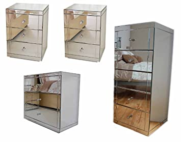 cheap mirrored bedroom furniture. exellent furniture myfurniture mirrored bedroom furniture package 3 draw low chest 2  bedside tables with cheap