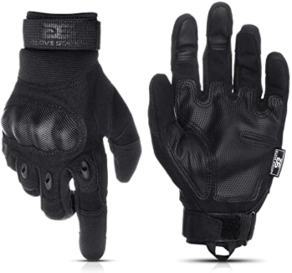 TACTICAL COMBAT HARD KNUCKLE CARBON SPECIAL OPS FIBRE ARMOURED GLOVES BLACK ARMY