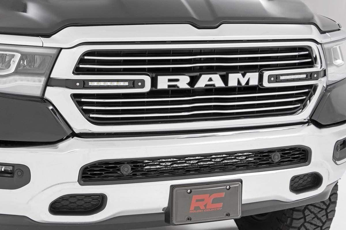"Rough Country Dual 6"" LED Grille Kit (fits) 2019-2021 Ram Truck 1500 