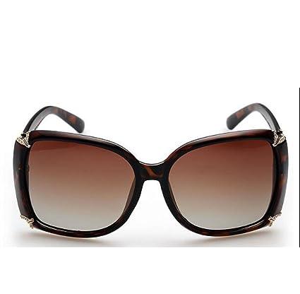MYLL New Star Au Paragraphe Ladies Fashion Sunglasses Sauvages Grand Lunettes Frame,Tea-OneSize