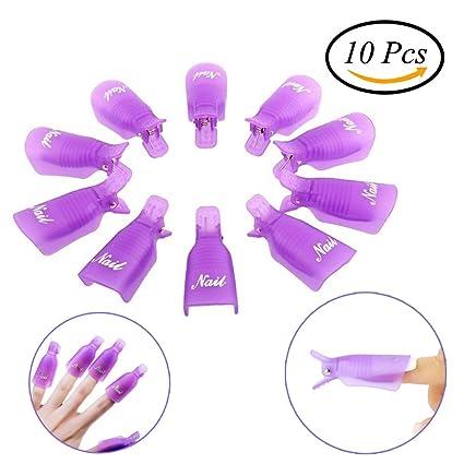 CCINEE 1 pieza protectores de Gel de uñas para quitar Warp uñas, color morado