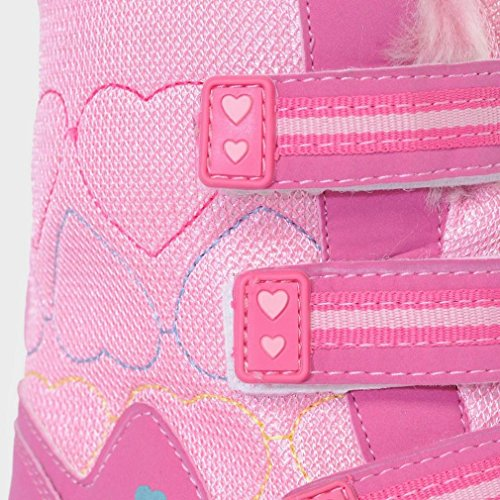 ALPINE Girls' Fur Snow Boots, Pink, UK2