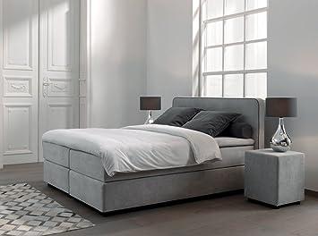 Boxspringbett Schlafzimmer Tonnentaschenfederkern Kopfteil Topper 48
