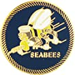 EE, Inc. United States Navy Seabees Pin Military Collectibles for Men Women