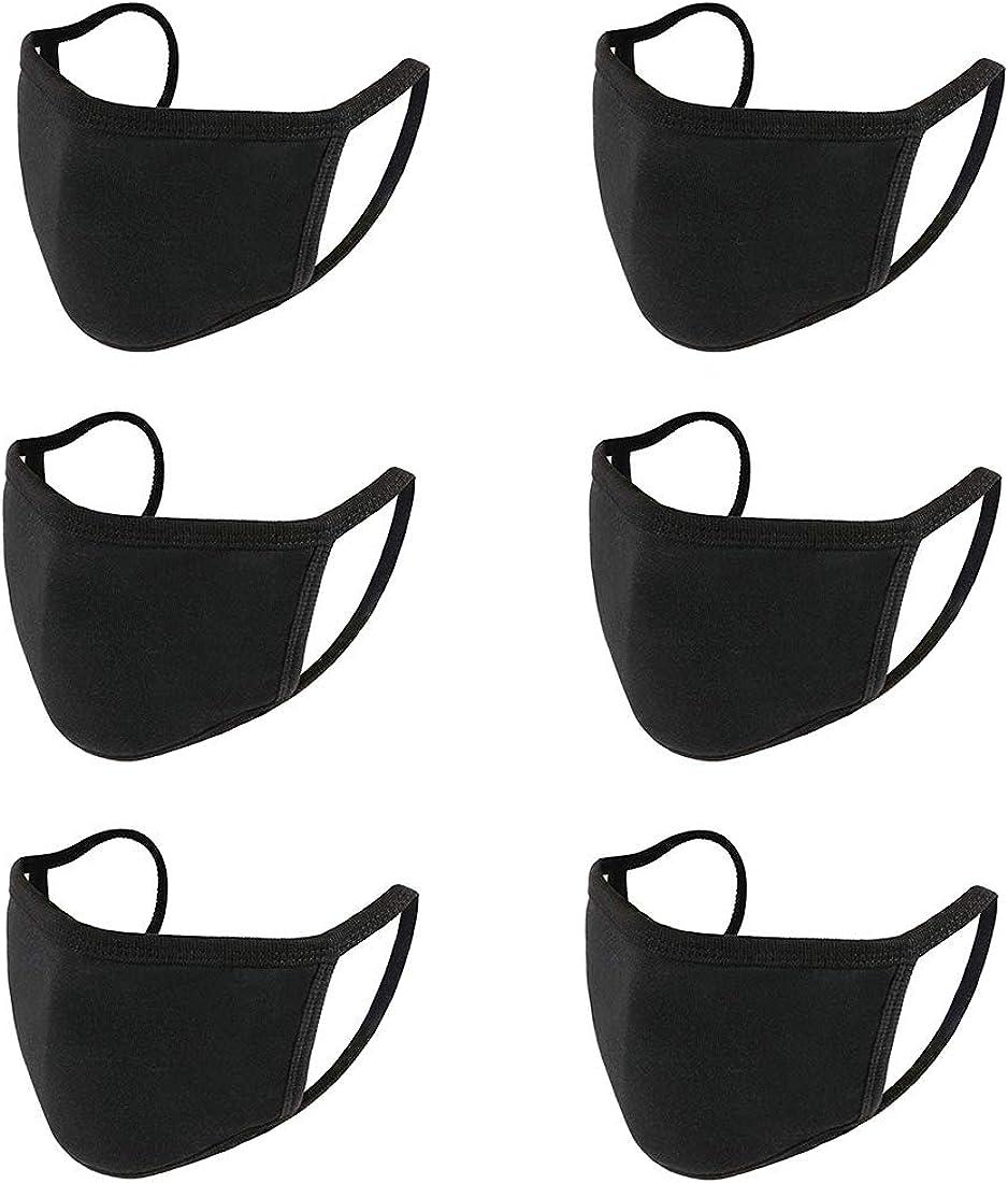 con 20 filtros reemplazables para ciclismo Running Cover para mujeres//hombres//adultos color negro 5 fundas reutilizables de algod/ón lavable