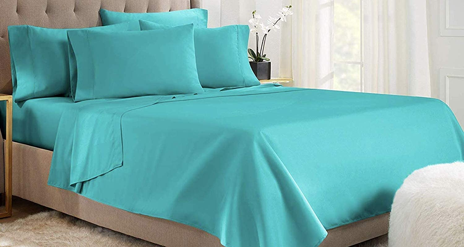 Empire Home Teal 1800 Persian Collection Soft Brushed Microfiber 4-Piece Sheet Set DEEP Pocket (Twin)