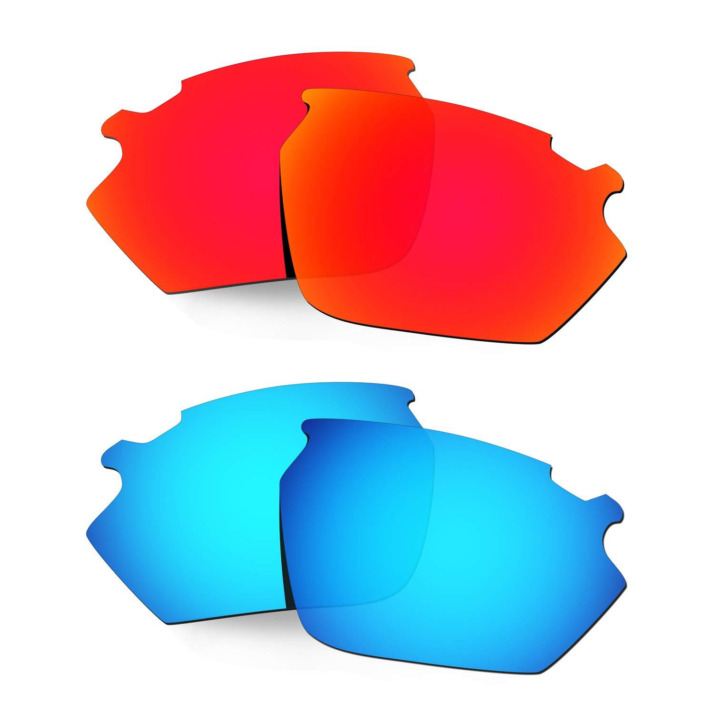 HKUCO Lentes de Repuesto para Rudy Stratofly Rojo/Azul Gafas ...