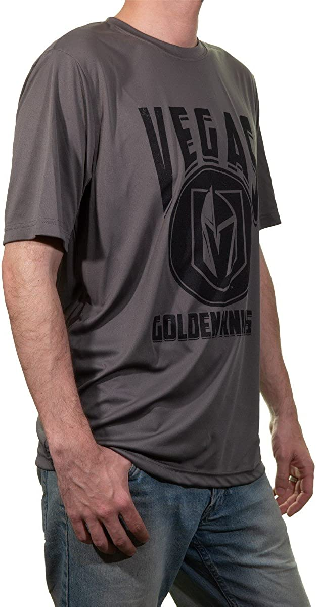 NHL Mens Vegas Golden Knights Short Sleeve Performance Rashguard Shirt