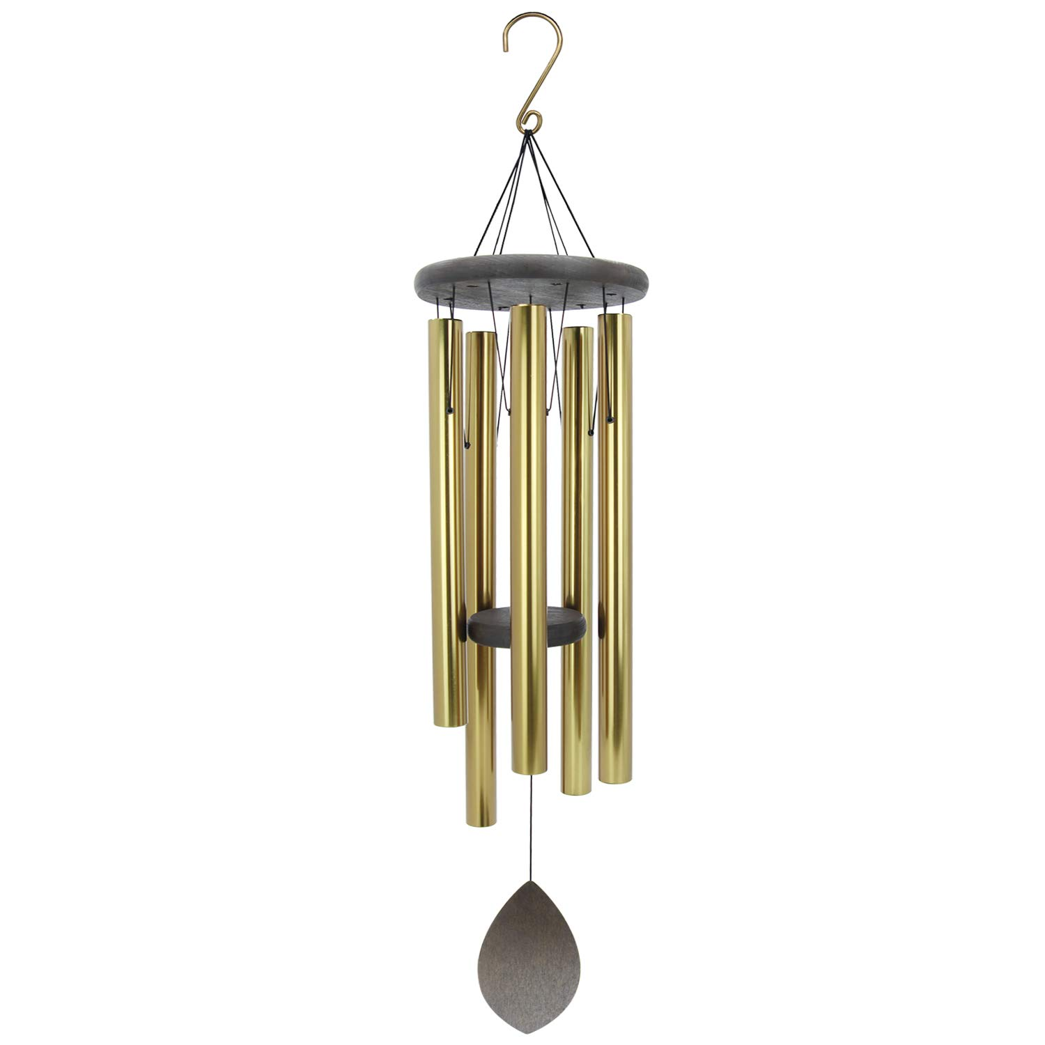 """ASTARIN Pentatonic Wind Chimes with Deep Sounding,36""""Large Windchime Amazing Grace with 5 Metal Tubes,Deep Tone Wind Chimes Large for Garden Home Hanging Decor,Memorial Wind Bell for Sympathy,Gold"""