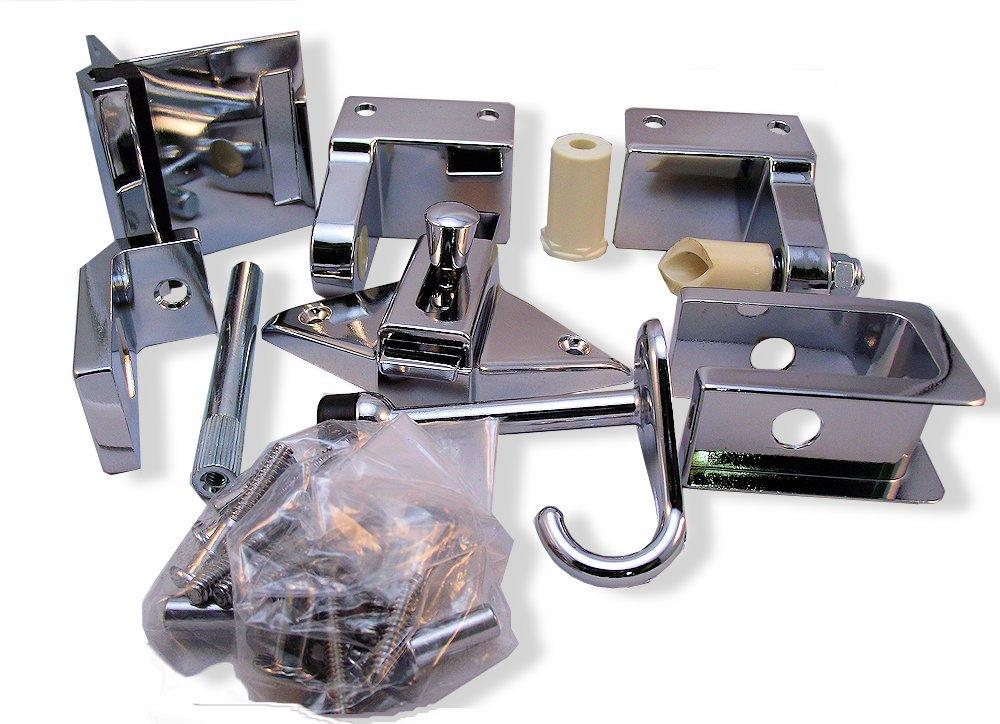 Inswing Door Hardware Repair Pak - for 1'' Restroom Partition Door & 1-1/4'' Pilaster