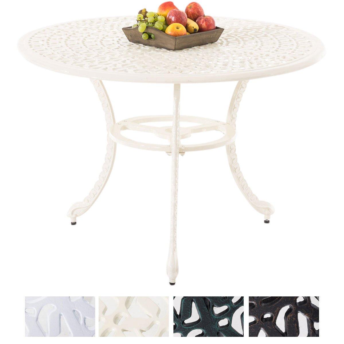 CLP Table de Jardin Ronde NARAYANA Ø en. 110 cm en Fonte dAluminium ...