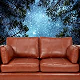 """Celestial Galaxy Night Sky Full of Stars Wall Tapestry Sublime Forest Nature View Hanging Artistic Home Décor (80"""" 60"""")"""