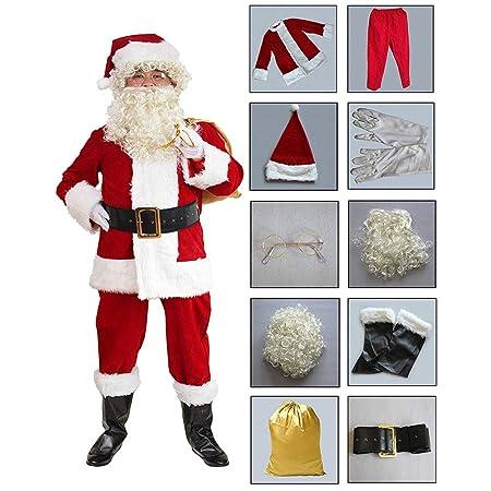 GKPLY Disfraz De Navidad, Papá Noel, Adulto Ropa Roja De ...