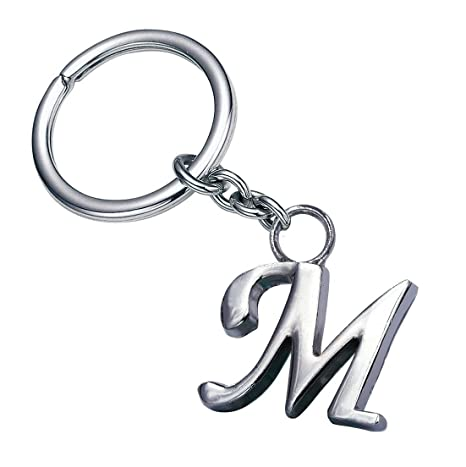 GCT Alphabet Letter M Metal Keychain for Car Bike Men Women Keyring  (Silver)  Amazon.in  Bags eb3577eb8