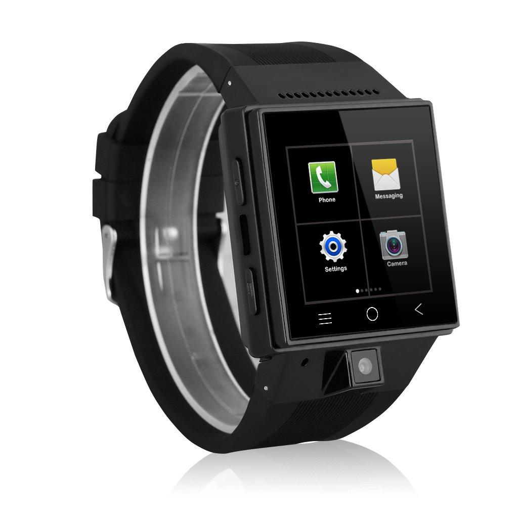 Excelvan S55 - Smartwatch Reloj Móvil Teléfono 3G Android (Dual Core, 2.0Mp Cámara, WCDMA GSM, Email, WIFI, Micrófono), Negro