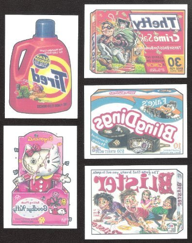 Topps Tattoos (Topps Wacky Packages Series 2 Complete Tattoo Set of 10 Tattoos -Great Product Parodies- Designed after the classic 70's sets !)