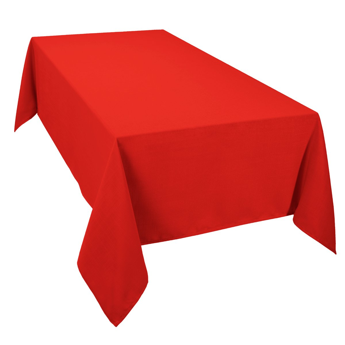 Casual dining essentials 52 x 70 inch oblong tablecloth red for Tablecloth 52 x 120