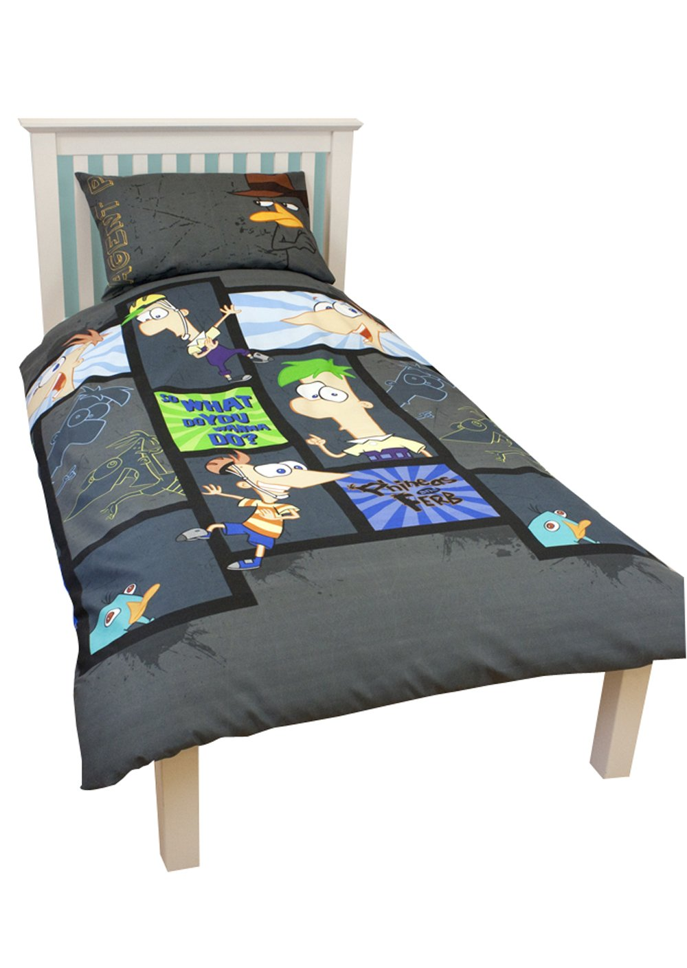 Disney Character World Phineas and Ferb Agent Single Rotary Duvet Set DPF-AGT-MS2-MSC-06 864-CharacterWorld-8523