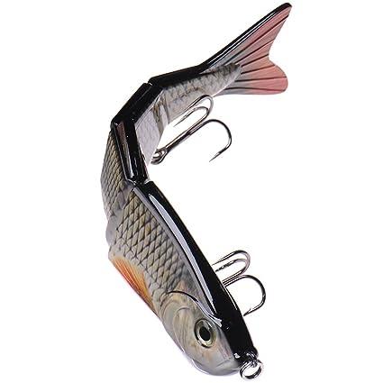Pesca del señuelo articulado Multi gran cebo vida-como agallas azules Sunfish semilla de calabaza
