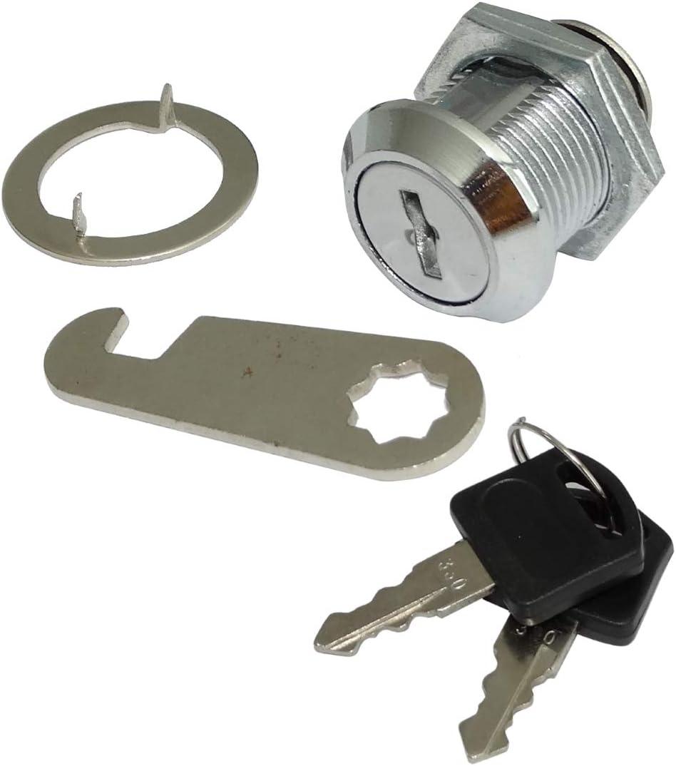 AERZETIX 2x Cerraduras y llaves para puerta de buz/ón C41402