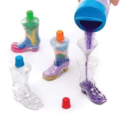 Baker Ross- Botellas con forma de bota vaquera para rellenar ...