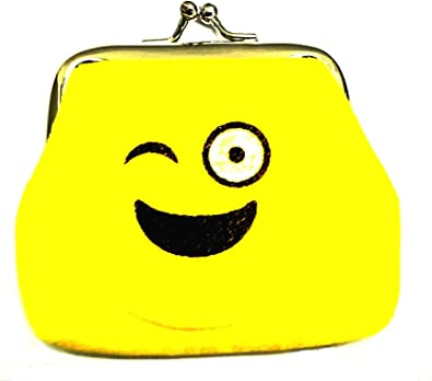 Emoji Designed Mini Coin Purse in Velvet Finish - Clutch - 7