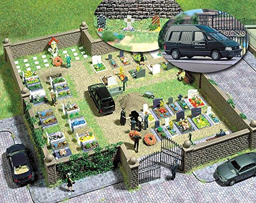 Busch 6049 Cemetery Kit HO Scale Scenery Kit