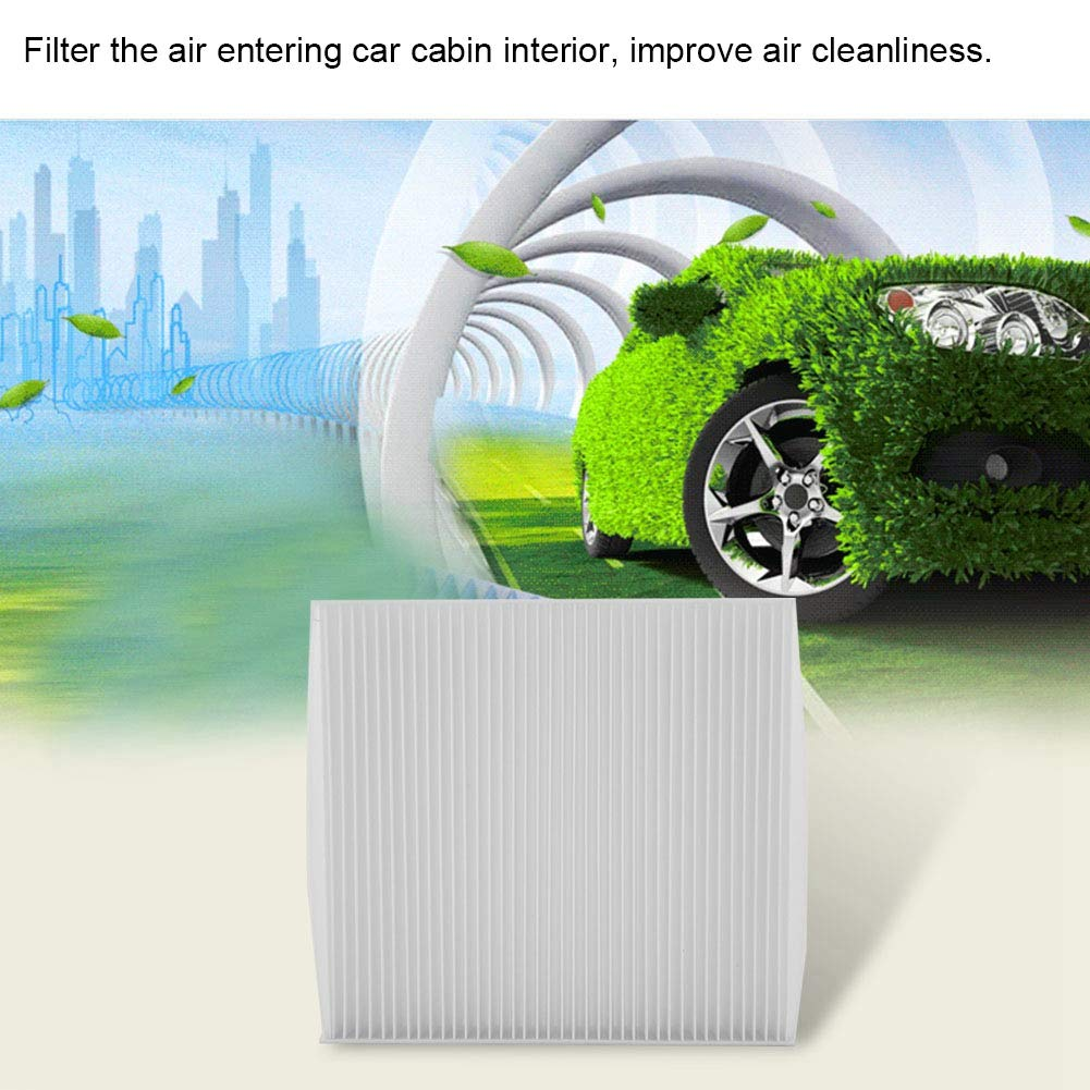 Fydun Air Filter for Car Cab Air Cleaner Effective Filter Dust Harmful Gas Non-Woven Fabric Milk White for Citroen Mitsubishi Peugeot 7803A004