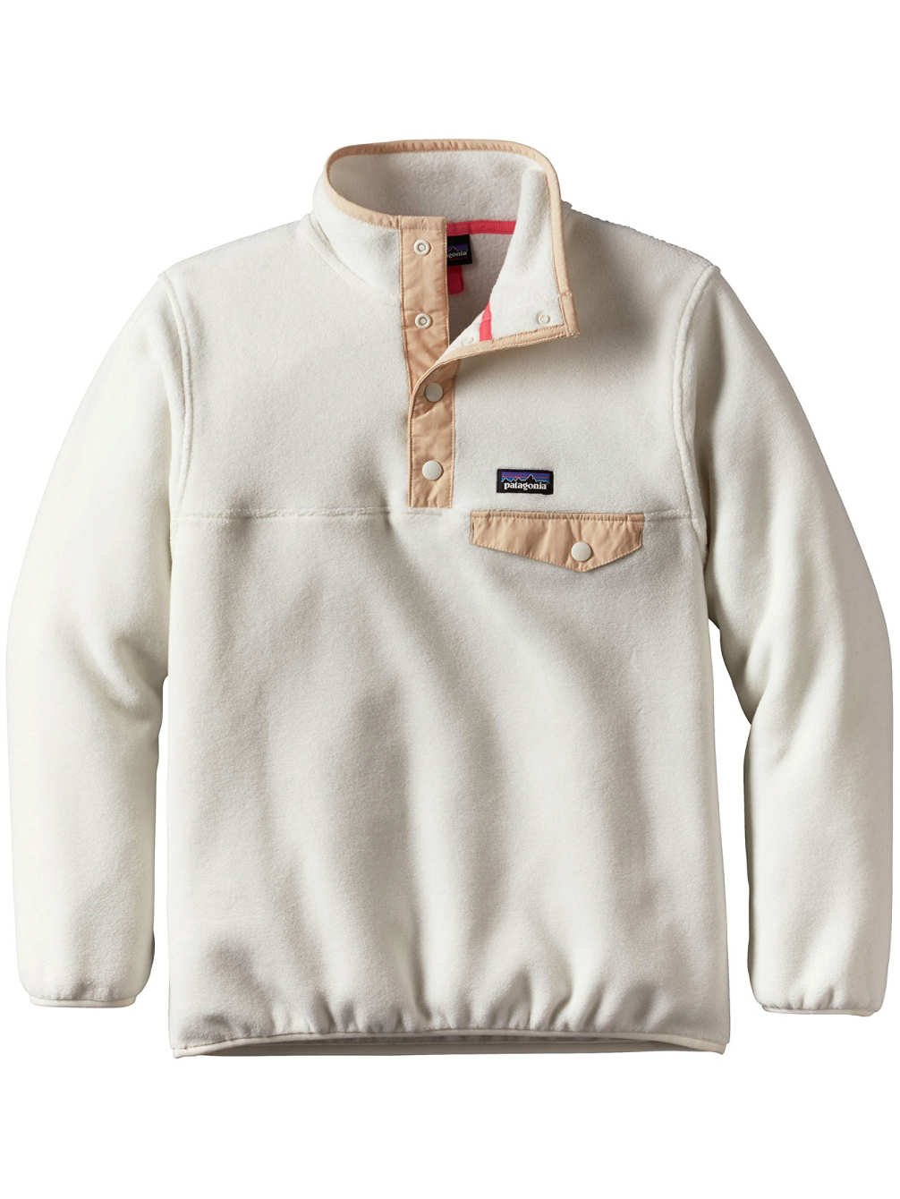 Patagonia Girls' Lightweight Synchilla Snap-T Pullover Birch White Large