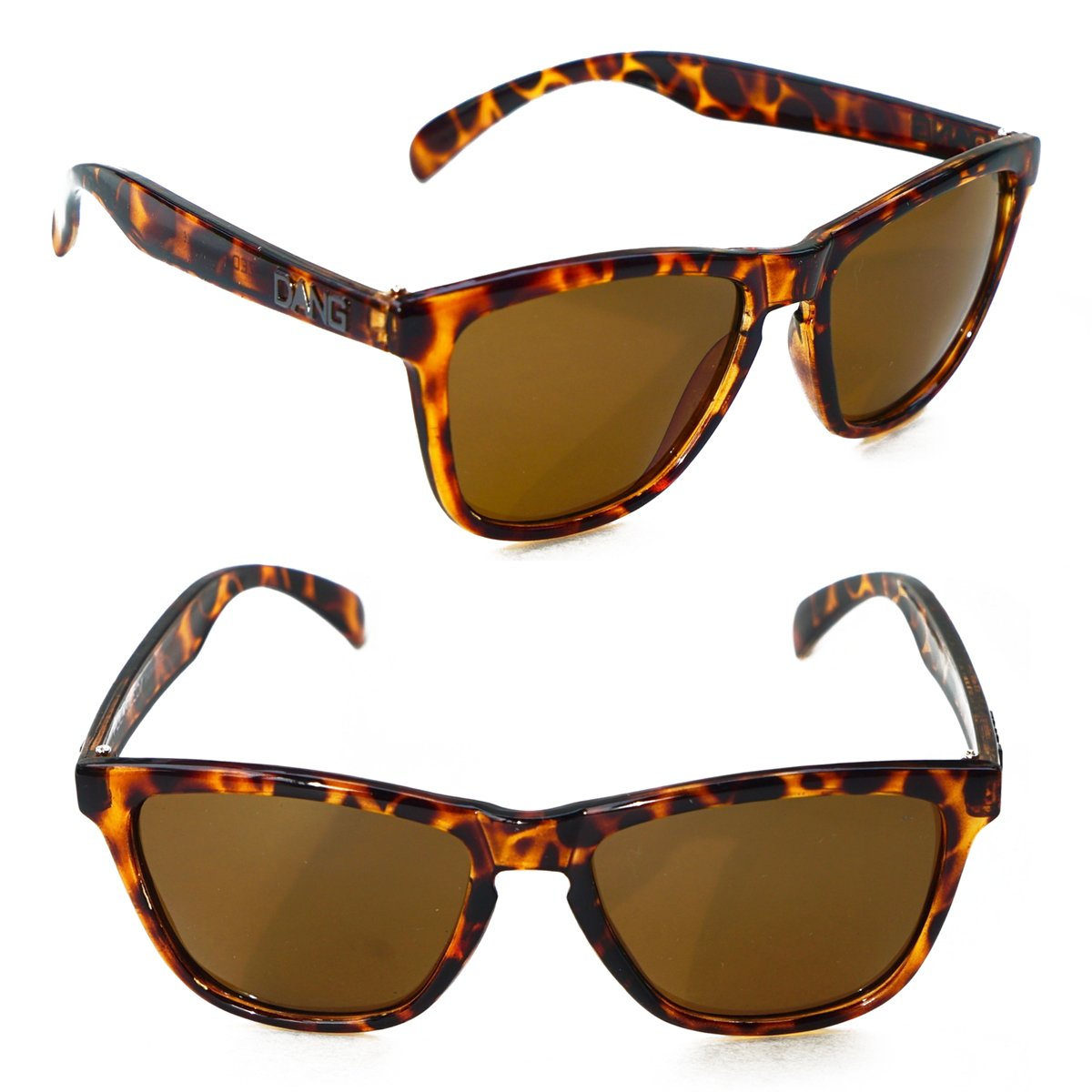 dd0e73aa9c Amazon.com  Polarized Tortoise Shell Sunglasses with Amber Lenses by DANG  Shades  Clothing