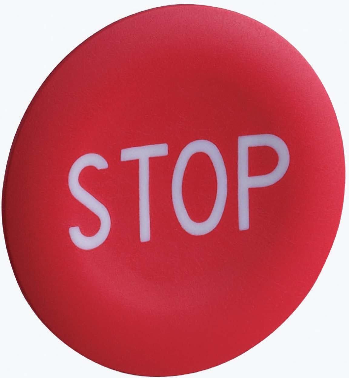Schneider elec pic - mss 40 17 - Placa marcada para pulsador rojo -stop-blanco ZBA434