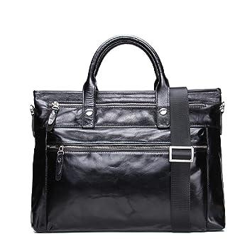 L bolso de auténtica vintage para piel bandolera Life Bolso negocios de estilo rqxO7rRa